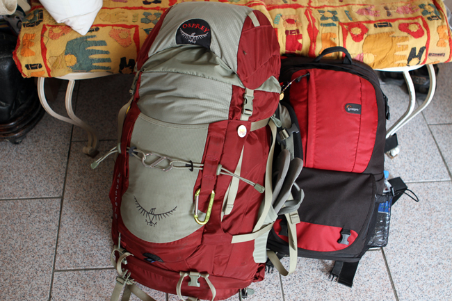 Two backpacks I use for my flashpacking travels around the world.