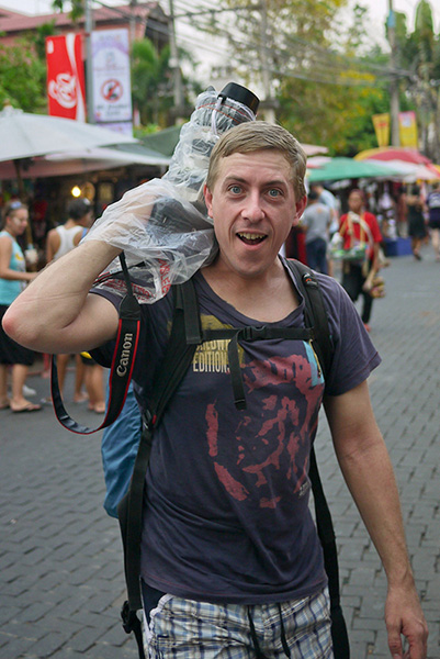 Travis at Songkran