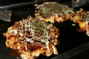 Okonomiyaki in Komagane, Japan
