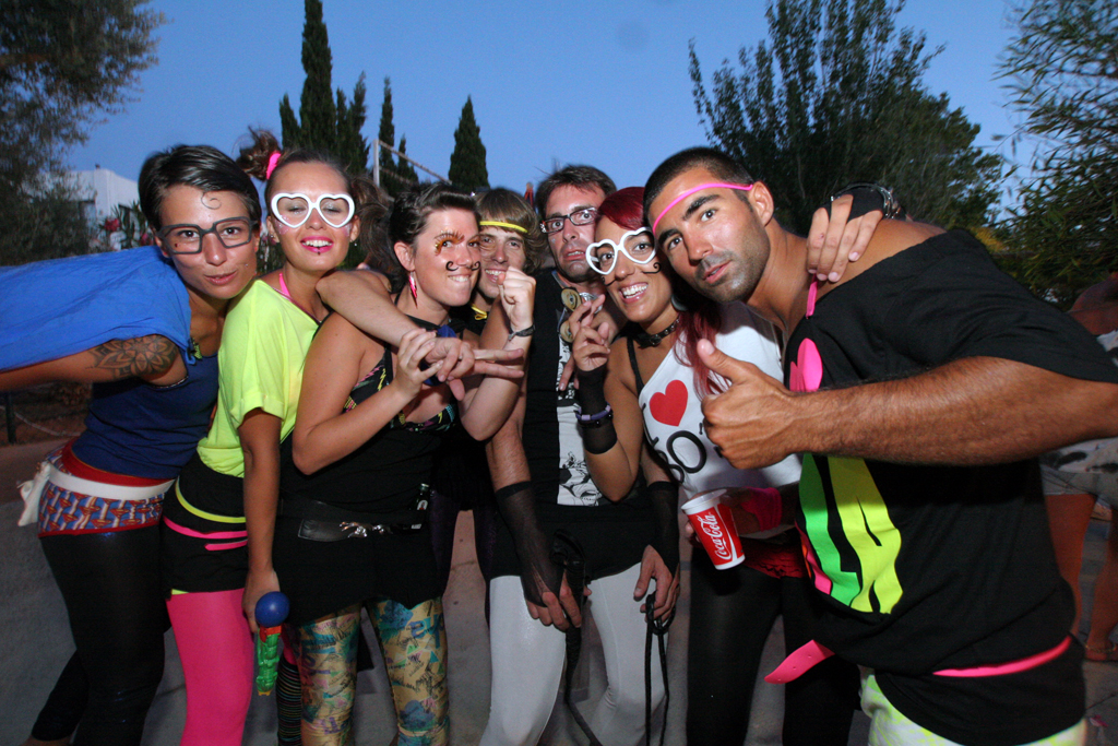 A Group poses at Zoo Project in Ibiza.