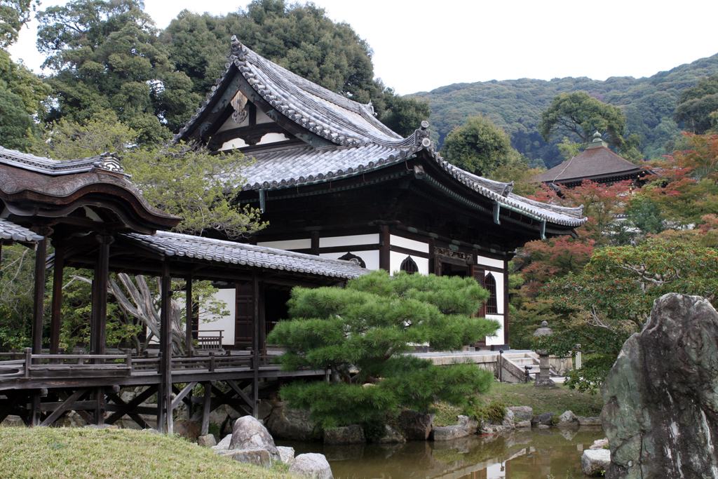 Part of a temple complex in Kyoto, Japan.