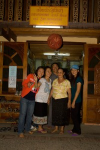 The host family of the Oudomphone Guest House in Laos.