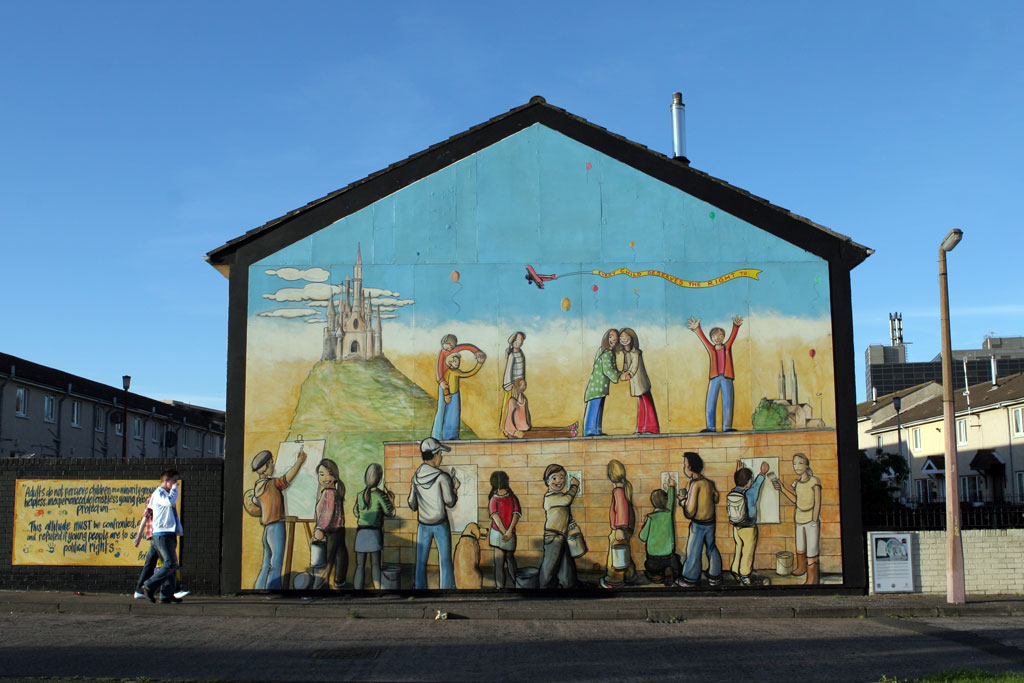 Irish Mural with Kids