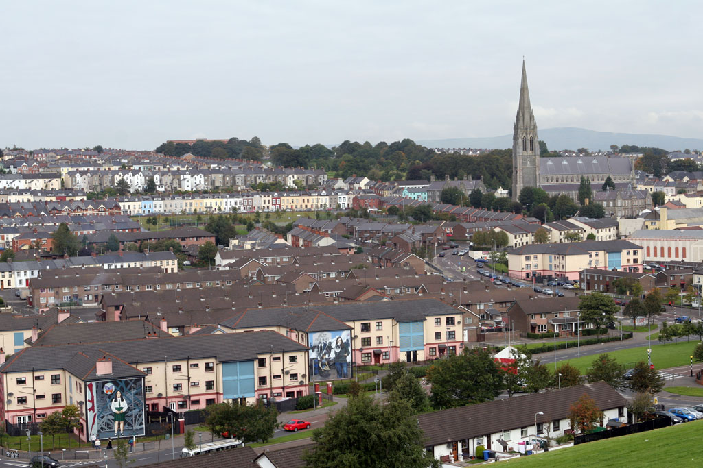 Derry Skyline with murals