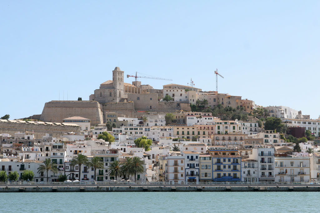 Ibiza town, the largest city on the island if Ibiza in Spain, is the headquarters of the Pasha clubbing empire.