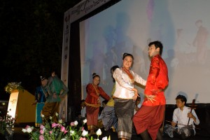 A small performance at the opening ceremony of the Luang Prabang Film Festival.