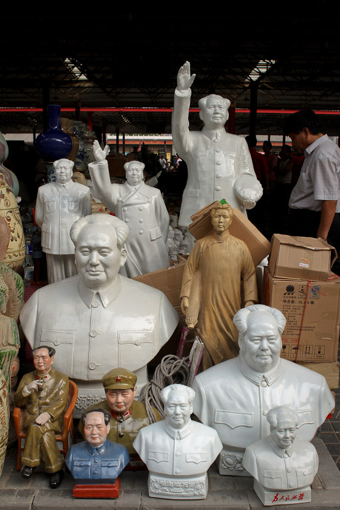 Statues of Chairman Mao