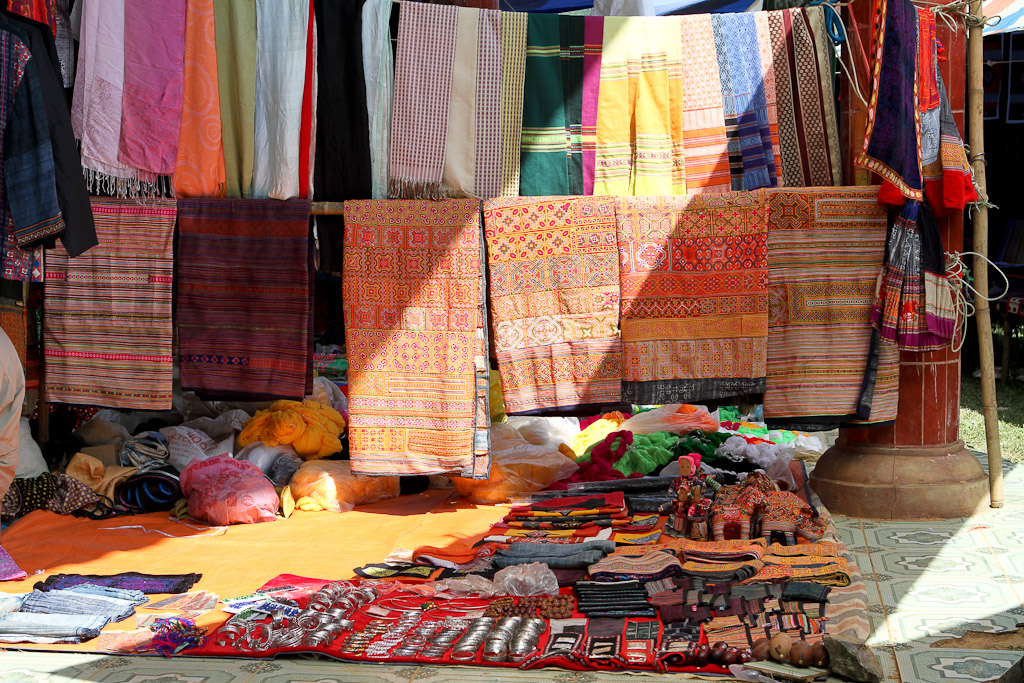Most of the market deals in clothing and fabrics for local tribes people.