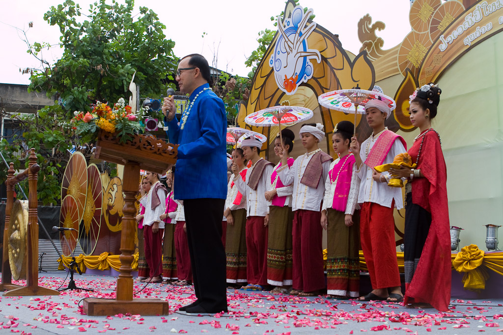 Opening ceremonies officially get the Songkran Festival underway.
