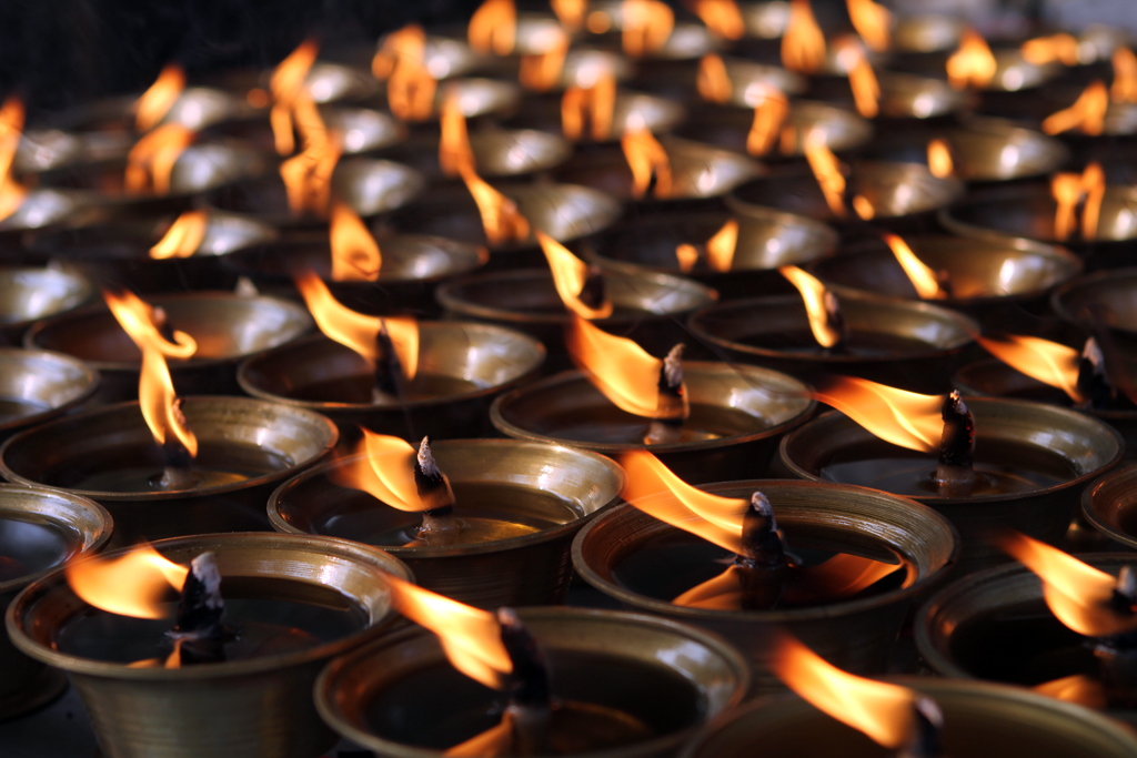 Prayer Candles at a temple in China.