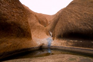 One of the two waterholes at Uluru.