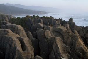 The Punakaiki, otherwise known as Pancake Rocks in Paparoa National Park.
