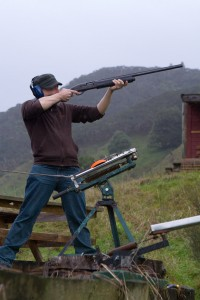 Shooting Clay Pigeons at Blue Duck Lodge