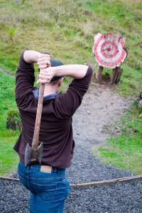 Axe Throwing at Blue Duck Lodge