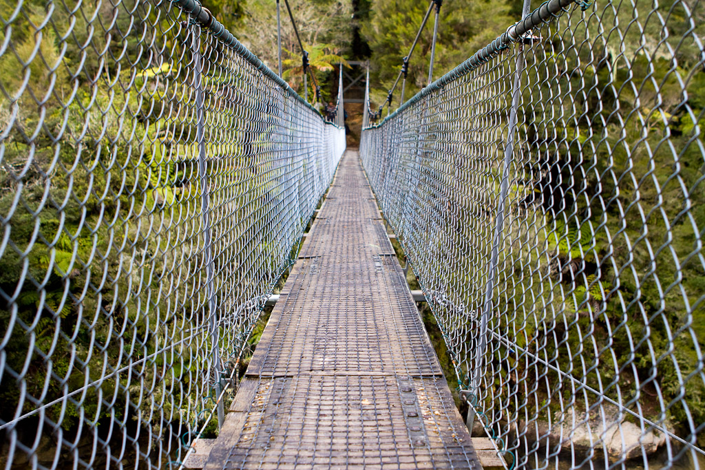 One of the bridges along the trek in Abel Tasman National Park, New Zealand.