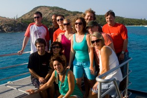 The guests from my trip with Mike Ball Diving Expeditions