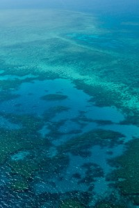 The Great Barrier Reef as seen from above