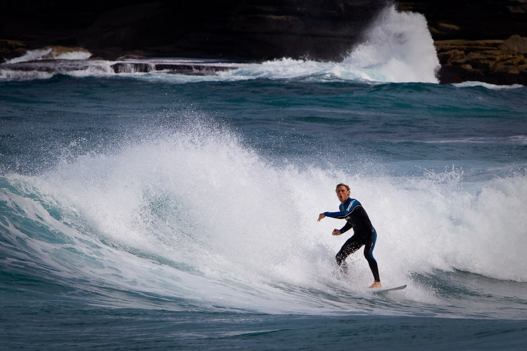 Surfing the beaches of Sydney.