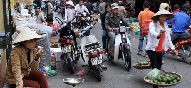 Hanoi Market Scene