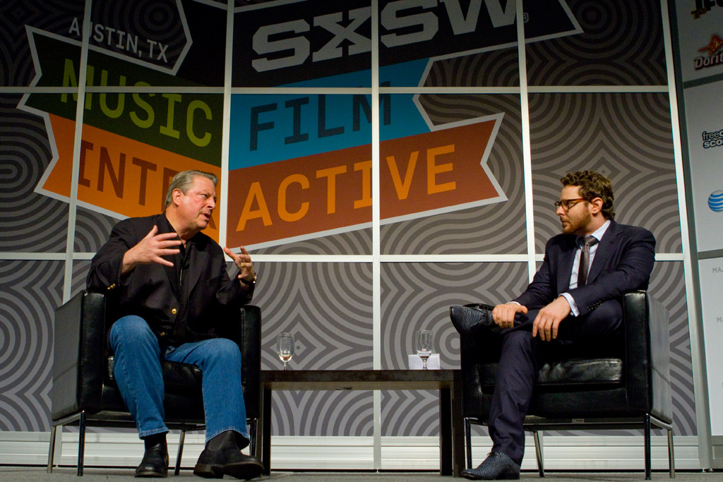 Al Gore and Sean Parker