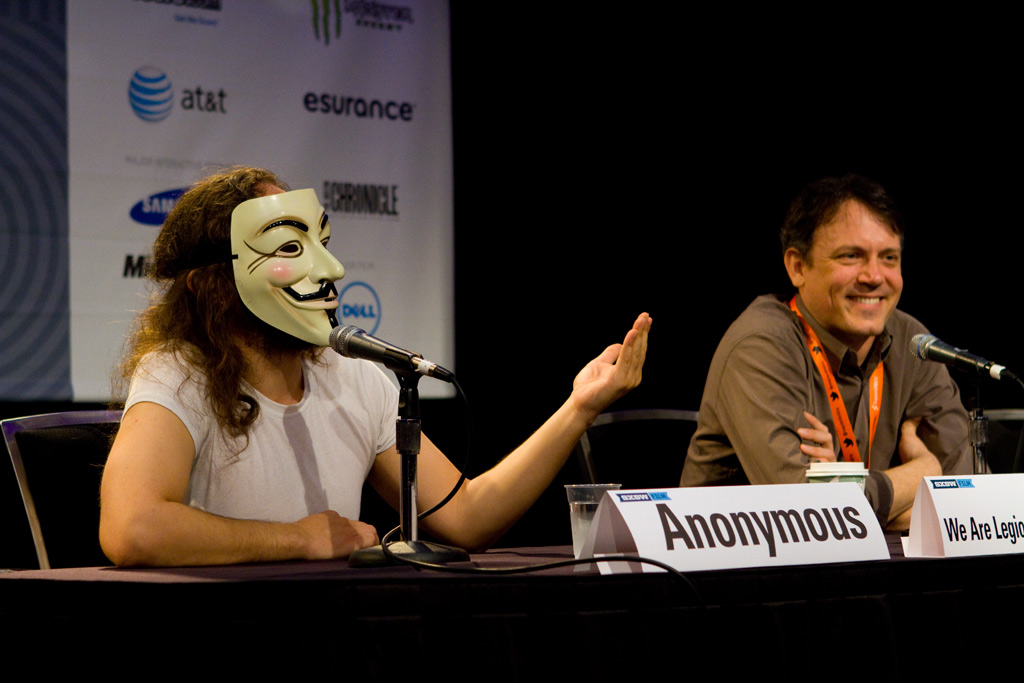 Anonymous at a panel