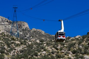 The Tramway to Sandia Peak.