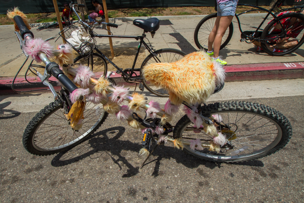 While there weren't as many costumed riders as I expected, decorated bikes were quite common.