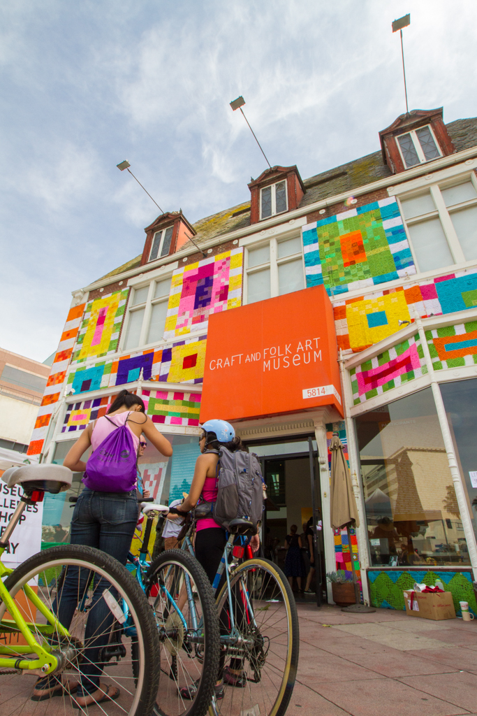 The Craft and Folk Art Museum on Museum Row opened its doors to CicLaVia attendees.