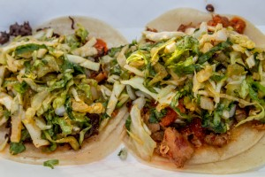 A couple tacos from the Kogi BBQ food truck - Delish!