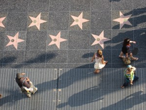 The Hollywood Walk of Fame is one of the top attractions for any tourist, though I must admit I never understood why.  Photo by Wieland Van Dijk via Flickr.