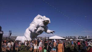 Coachella's Spaceman from the 2014 music festival.