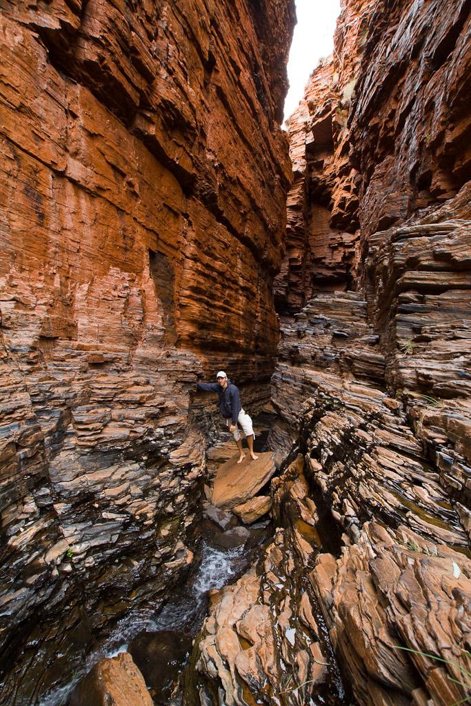 Exploring Karijini National Park during our 2 week road trip through Western Australia