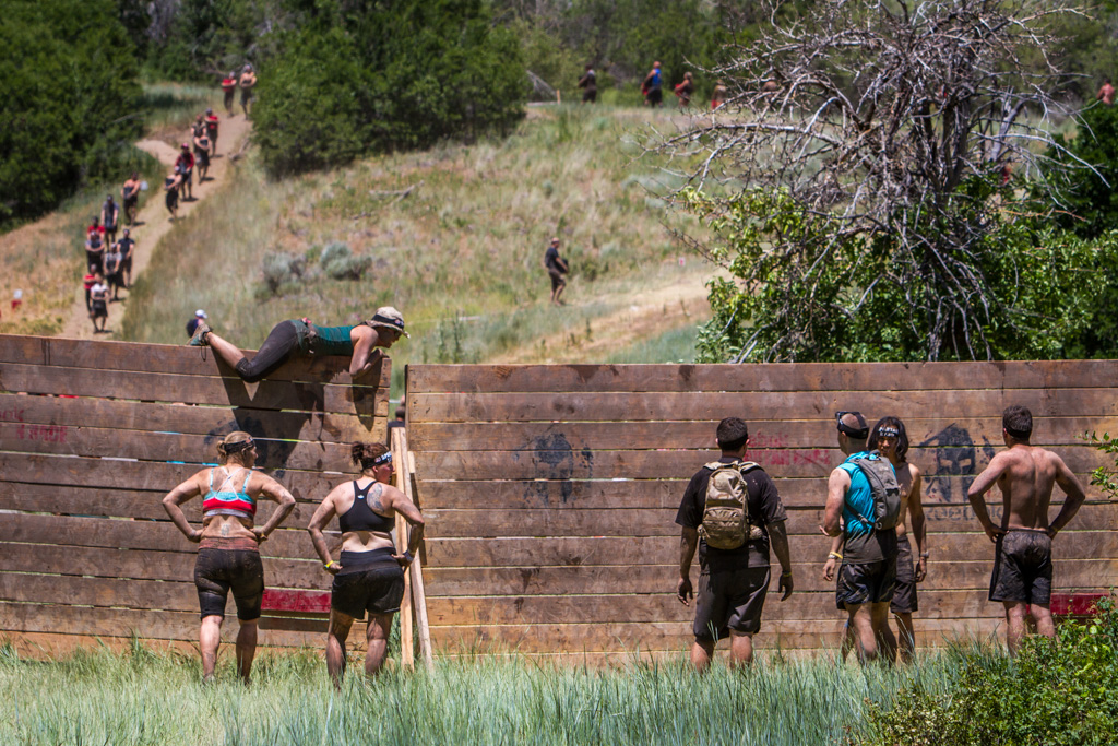 The wall climb, in various forms, is the most common obstacle a runner will face during the course.
