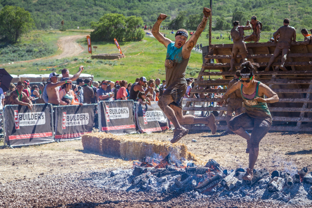 A cheesy finish over the fire after a long, exhausting day spent on the Spartan course.