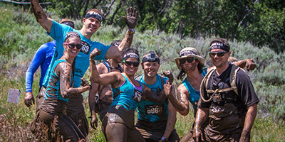 Ryan and friends post during the 2014 Spartan Beast at Soldier's Hollow in Utah.