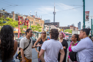 Group tour of Toronto Chinatown