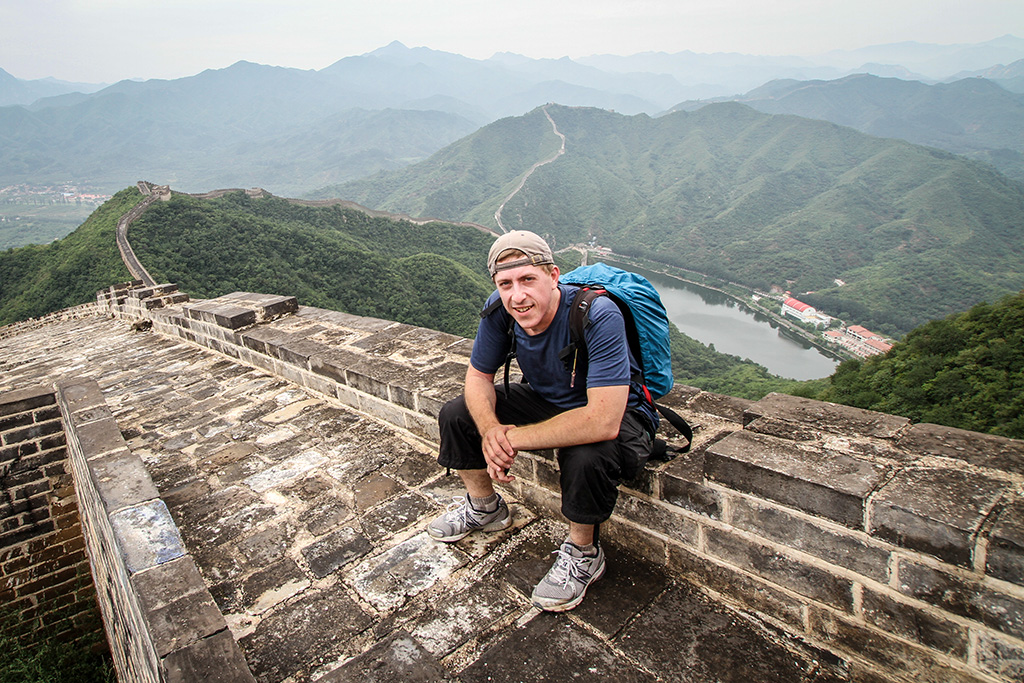 Travis on the Great Wall of China