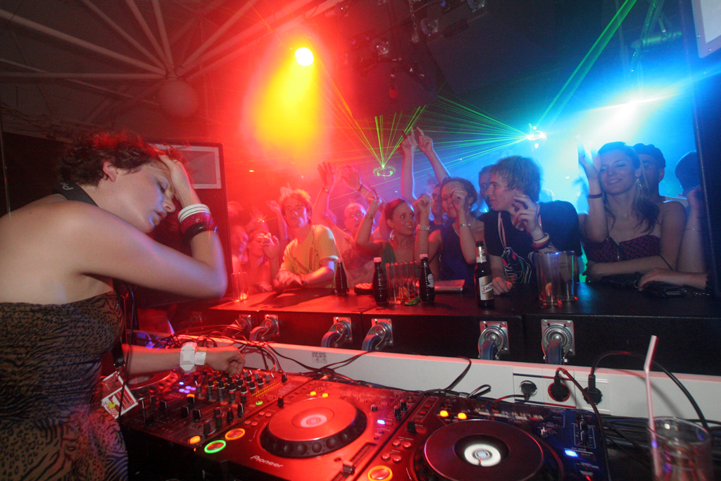 Radio 1 DJ Annie Mac plays at Privilege during Radio 1 Weekend, the biggest weekend during an Ibiza summer.