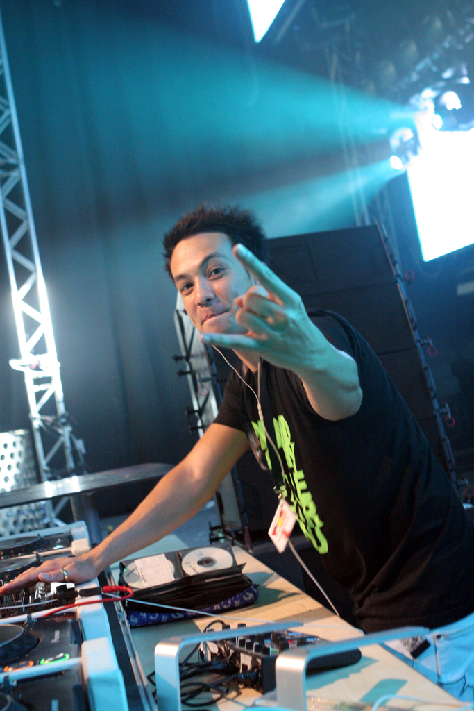 Laidback Luke on the main stage at Privilege during Radio 1 Weekend.