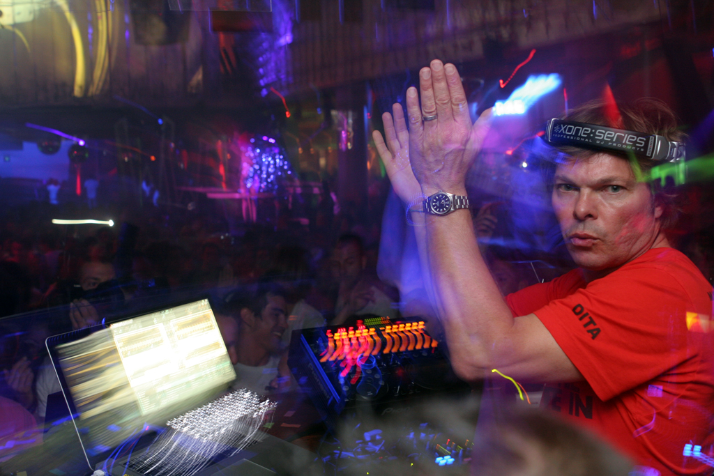 Radio 1 DJ Pete Tong at Wonderland, the club night at Eden that he's responsible for.