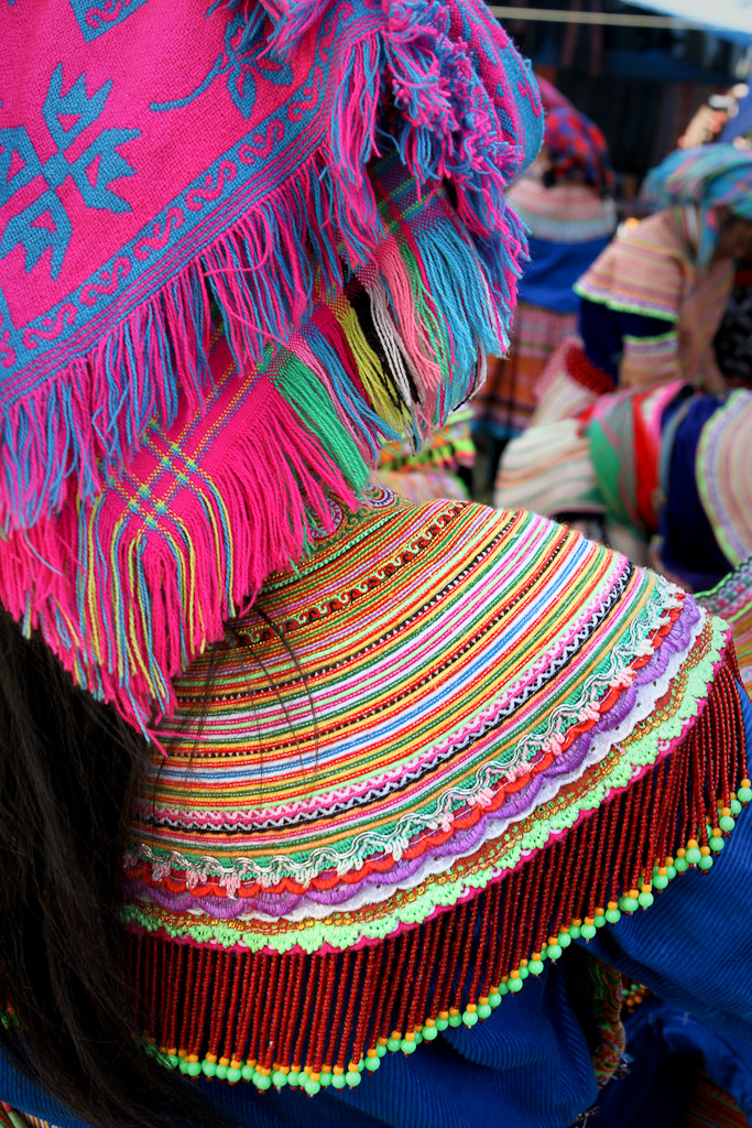 The detail in the dress of the women of the Flower Hmong hill tribe is extraordinary.