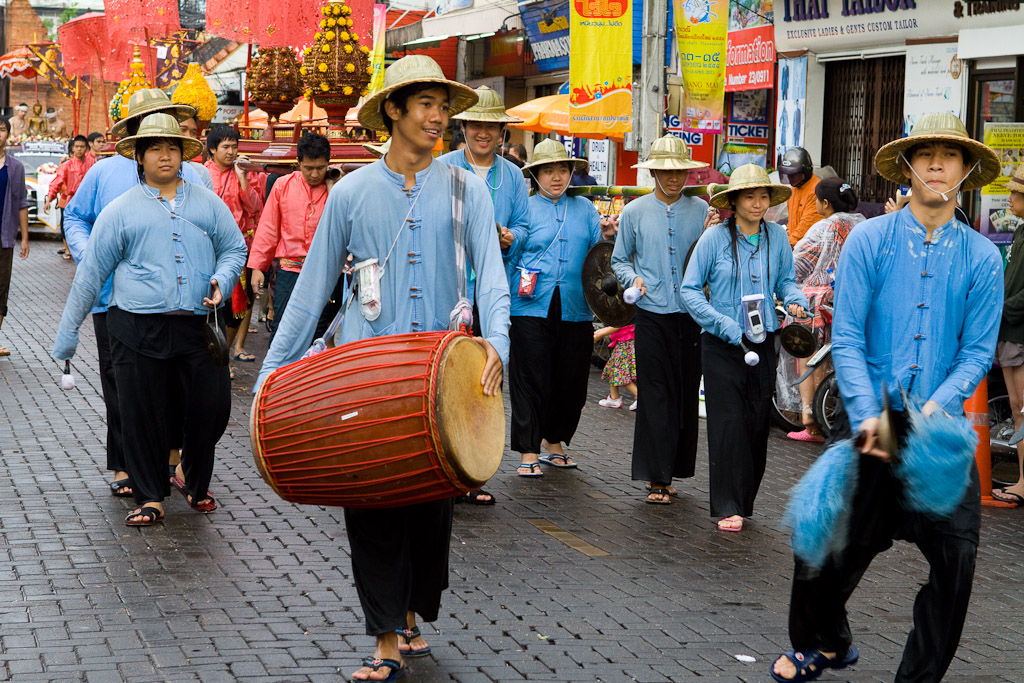 Musicians in the parade.
