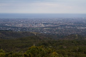 Adelaide as seen from Mt. Lofty.