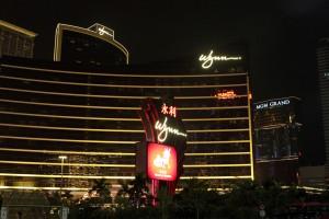 The Wynn and MGM Grand casinos in Macau - Southeast Asia's Las Vegas.