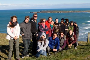A group shot along the southern coast of New Zealand