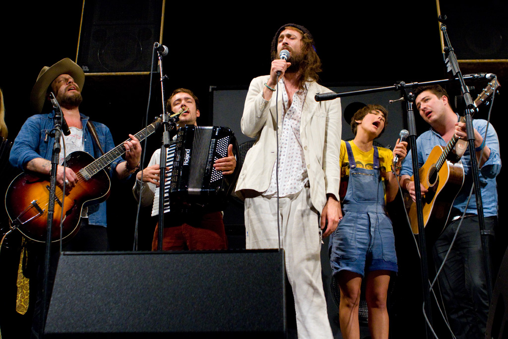 Edward Sharpe and the Magnetic Zeros and Mumford & Sons at the Paramount Theater