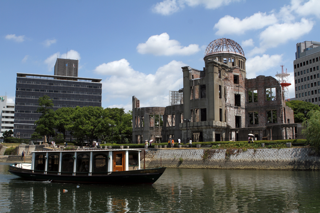 Genbaku Dome, in Hiroshima, was the only structure left standing in the area where the first atomic bomb exploded in 1945.