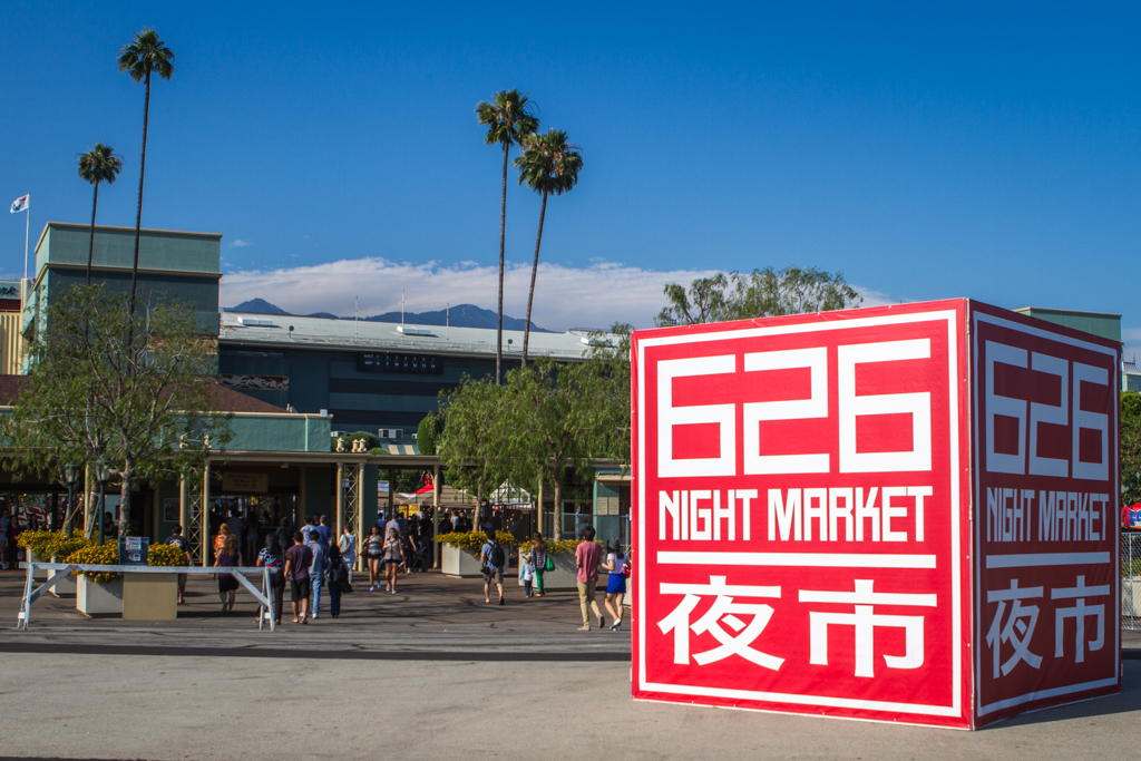 The gate 3 entrance to the Night Market at Santa Anita Park