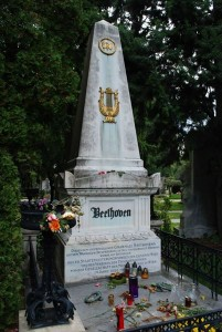 Beethoven's Grave at the Vienna Cemetery.