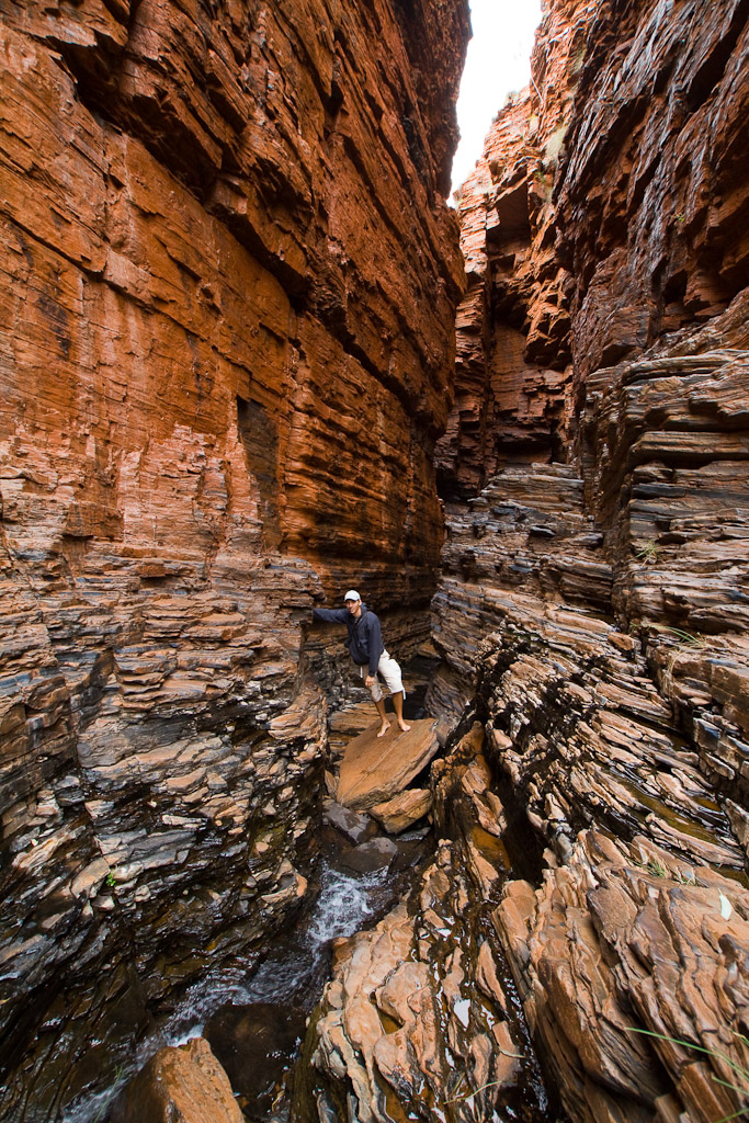 Exploring Karijini National Park during our 2 week road trip through Western Australia